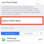 Checking Your iPhone Battery Health using iOS 11.3