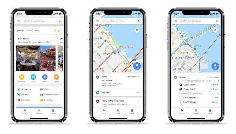 How To Use The New Google Maps Explore Bar On Your Iphone