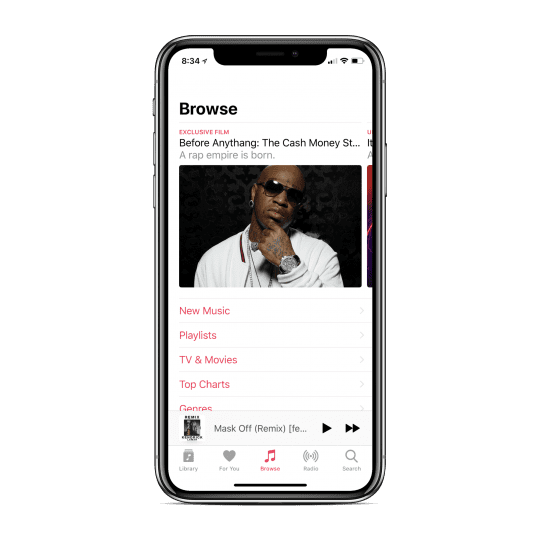 Apple Music Home