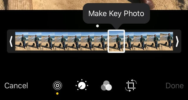 Make key photo in Live Photos in Photos app