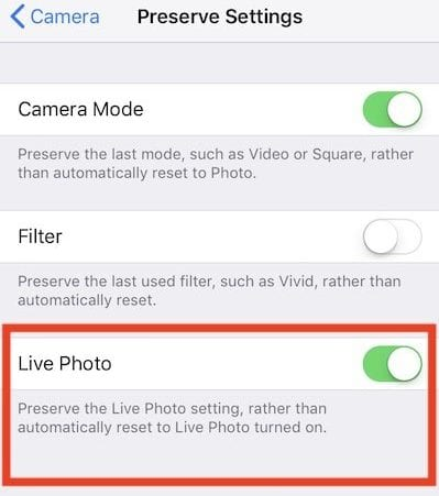 Live Photos on iPhone iOS 11