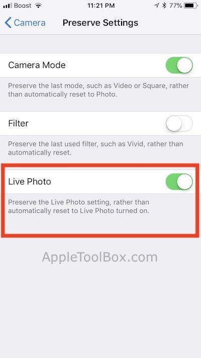 Live Photos on iPhone iOS 11