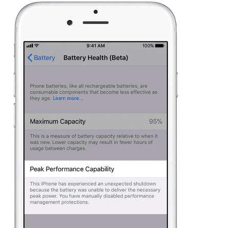 Checking iPhone Battery Health using iOS 11.3