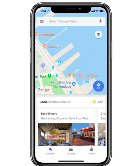 Google Maps New Feature Explore