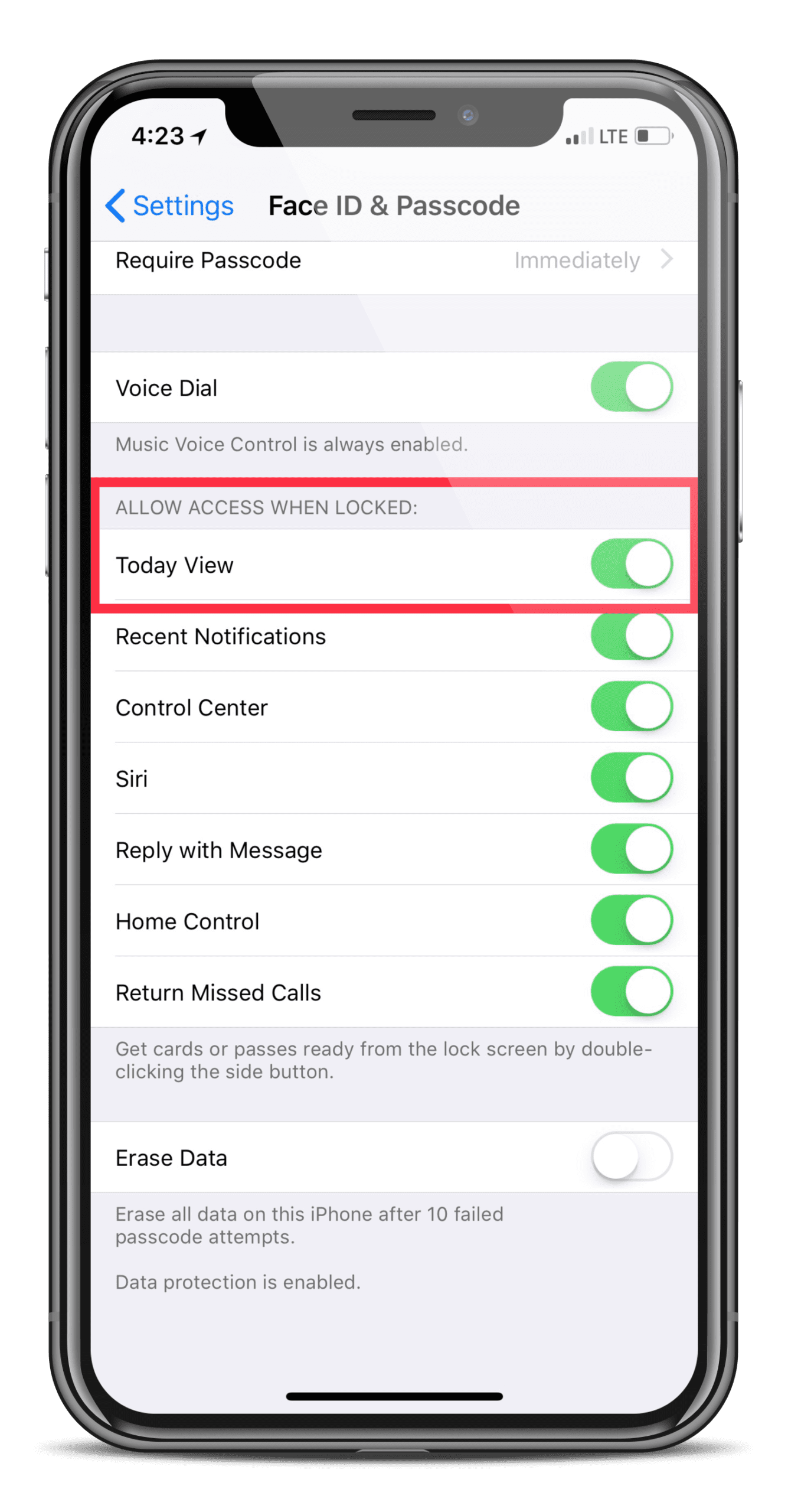 how to turn off auto lock on ios 11