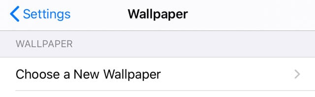 choose a new wallpaper on iPhone, iPad, or iPod