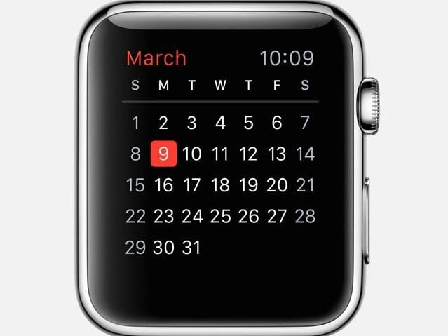 Apple Watch Calendar