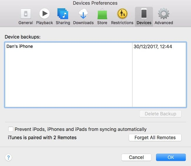 Delete Your Old iTunes Backup