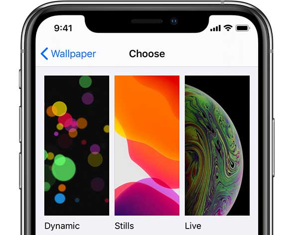 choose a wallpaper on iPhone