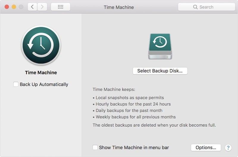 macOS High Sierra Time Machine Issues