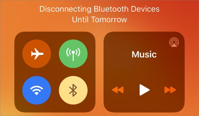 Bluetooth turned off in the Control Center