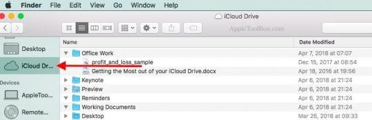 iCloud Storage backup