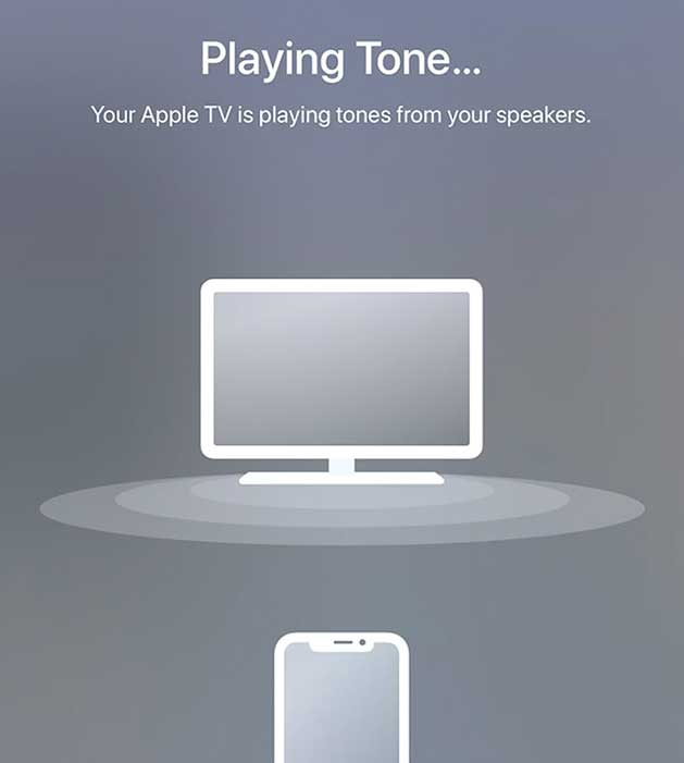 apple tv playing a tone