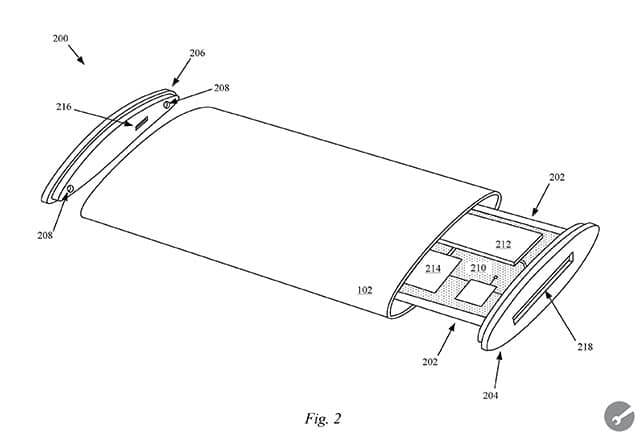 Wraparound Display Patent Figure