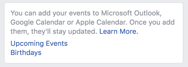 how to show facebook events on iphone calendar