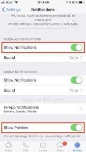 WhatsApp Notifications Missing Sender