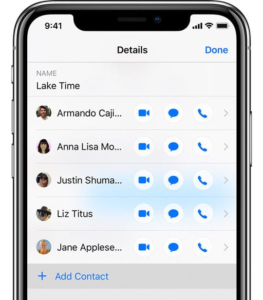 iMessage Group Text Add a Contact iOS 12