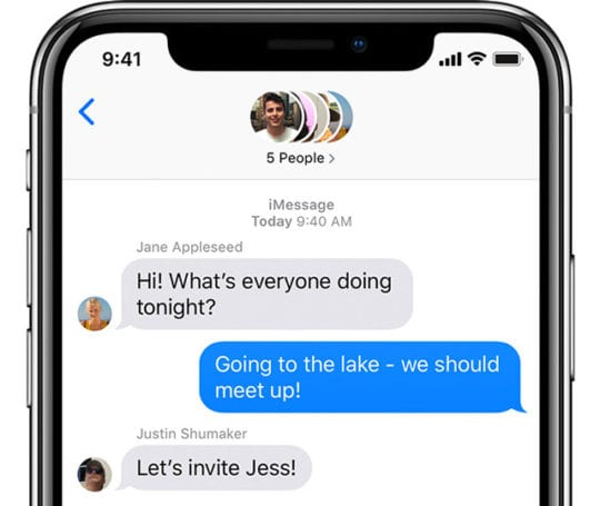 group iMessage chat on iPhone