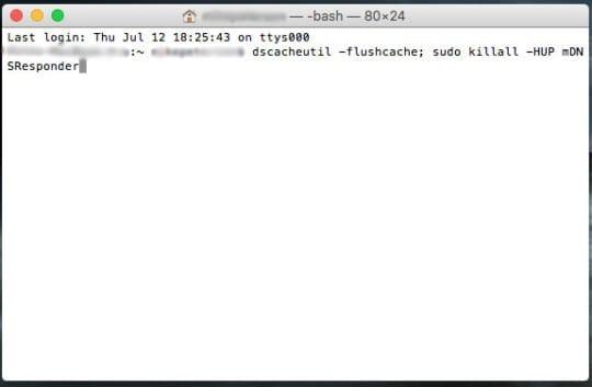 Clear DNS Cache in Terminal