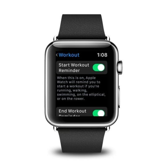Auto-Workout detection on Apple Watch