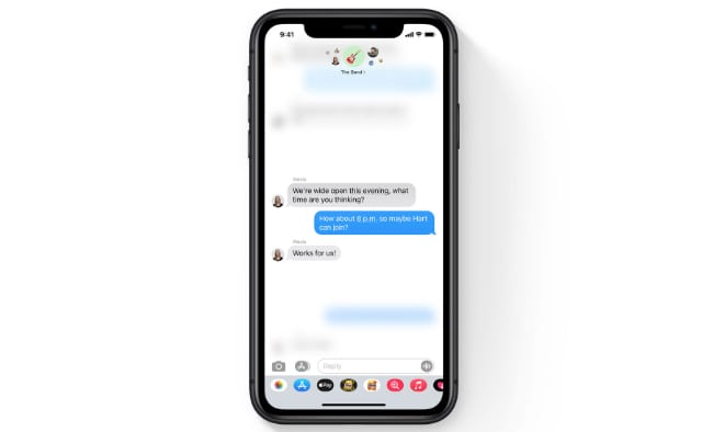 Inline reply in iMessage group chat