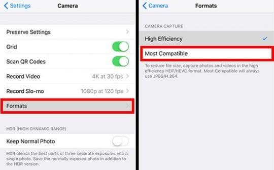 iOS Camera Capture Format