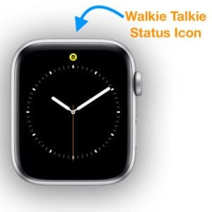active status icon on watchOS 5 for walkie talkie