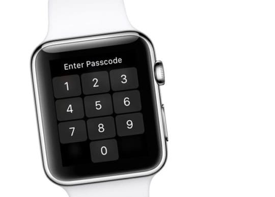 Enter in passcode on Apple Watch