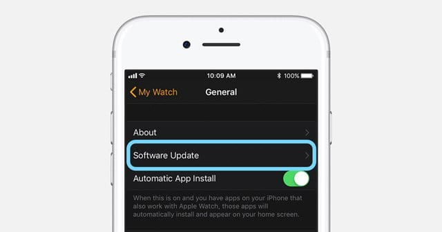 Update Apple Watch Software from iPhone