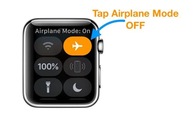Turn off Airplane Mode on Apple Watch