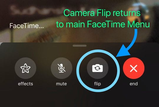 facetime flip camera toggle iOS 12.1.1