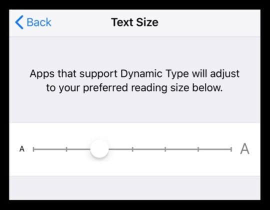 Make iPhone Text Size Smaller or Larger