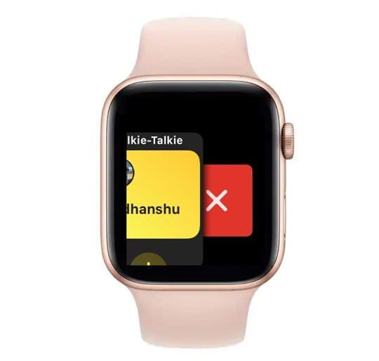 watchOS close walkie talkie app