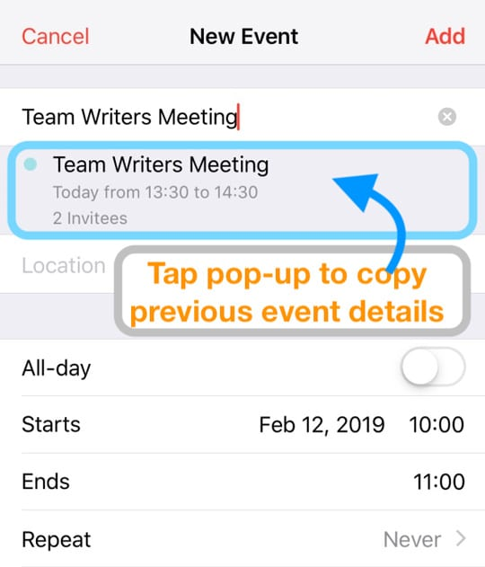 How To Duplicate and Copy Calendar Events in iOS and Other