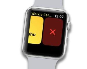 delete contact on walkie talkie app using
