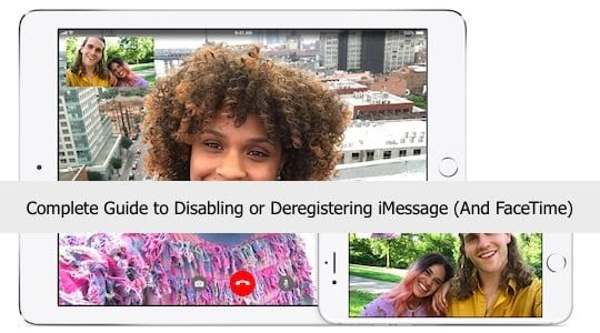 Disabling or Deregistering iMessage And FaceTime