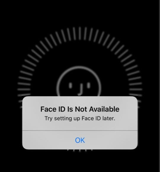 Face ID not working on iPhone, Face ID Is Not Available Error Message