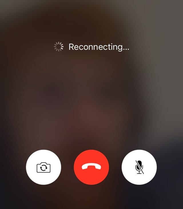 FaceTime always reconnecting or disconnecting calls iOS