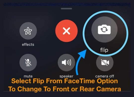 > 3 clicks to mute or flip camera on FaceTime iOS 12