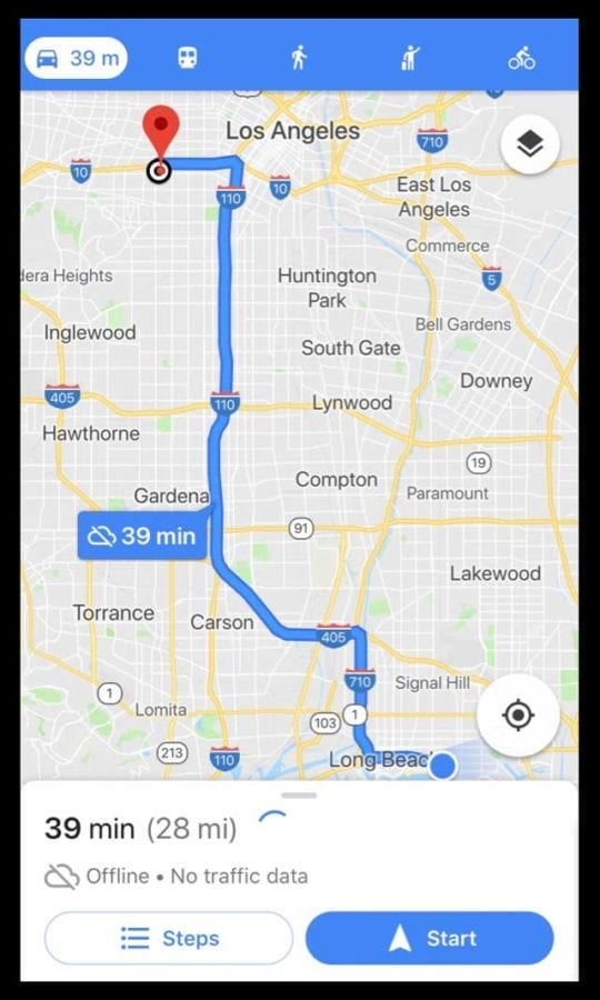 How To Download Offline Maps Routes In Google Maps Iphone App