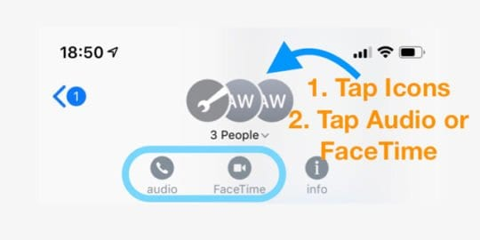 FaceTime Calls in iMessage Chat and Conversations