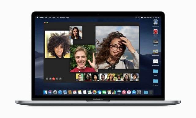 Group FaceTime on macOS Mojave MacBook Mac
