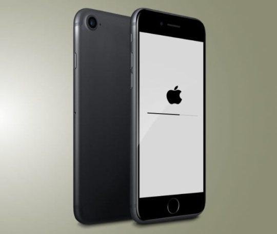 iPhone 7 reset in progress