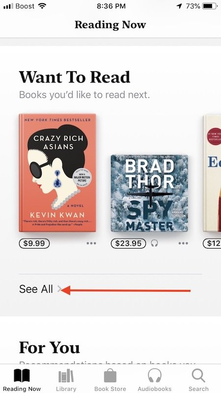 How To Manage Books Wishlist on your iPhone or iPad in iOS 12