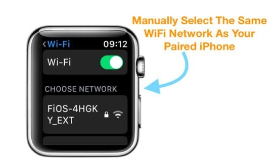 Select a WiFi Network From your Apple Watch with watchOS 5