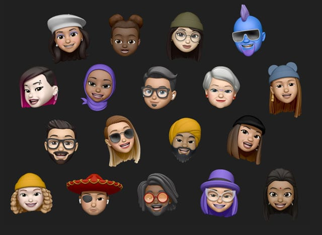 options for Memoji in iOs 13 and iPadOS