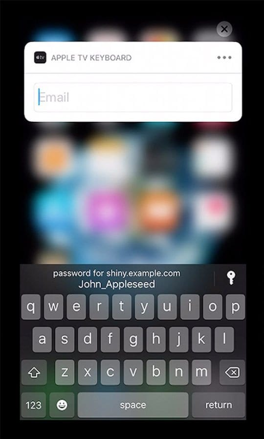 Enter Password using iOS 12 Autofill on Apple Tv with tvOS 12