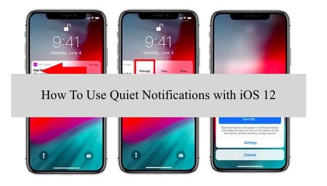 iOS 12 Quiet Notifications