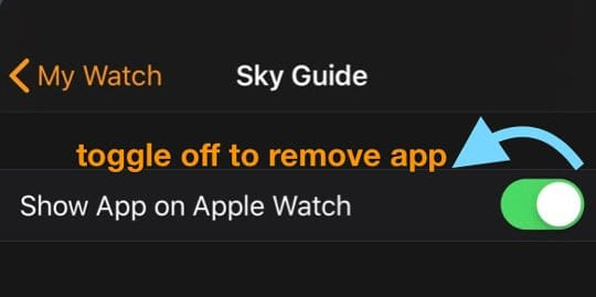 delete an app from Apple Watch