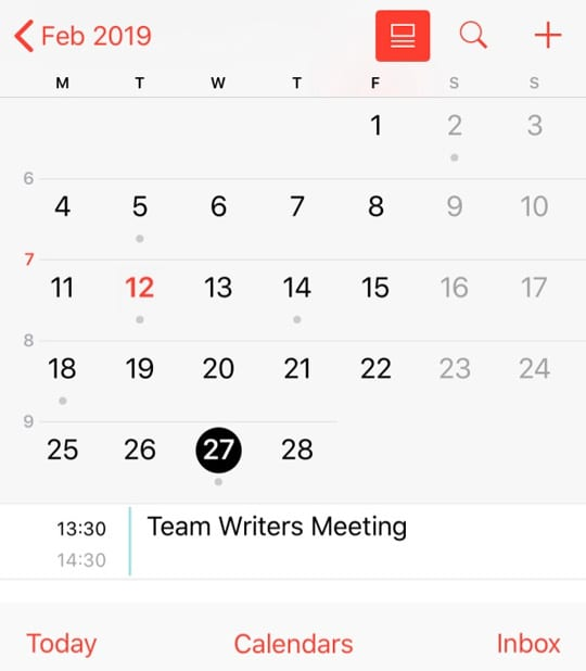 check iOS copied or duplicated iOS Calendar App Event